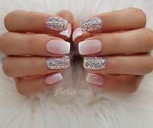 nails, stars, and beautiful nails image