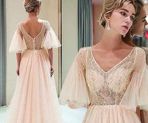 half sleeve, prom dresses 2018, and gorgeous prom dresses image