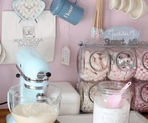 kitchen, pink, and baking image