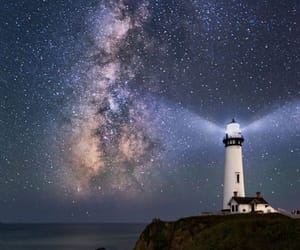 lighthouse, night, and photography image