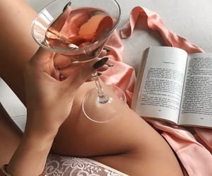 book, розовый, and cocktail image