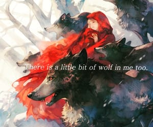 big bad wolf, little red, and little red riding hood image
