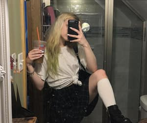 alternative, sad girl, and blond hair image