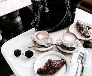 bag, coffee, and croissant image