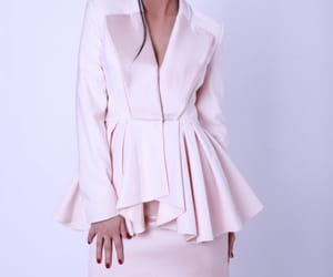 baby pink, blazer, and chic image