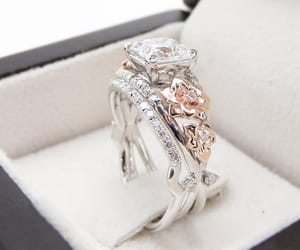 etsy, engagement rings, and wedding rings image