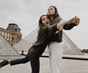 friendship, girls, and paris image
