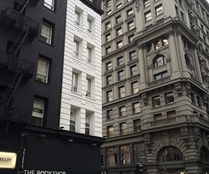 city, building, and black image