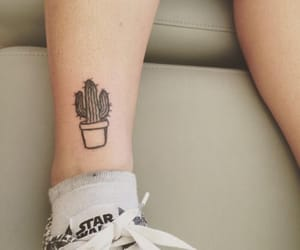 tattoo, cactus, and shoes image