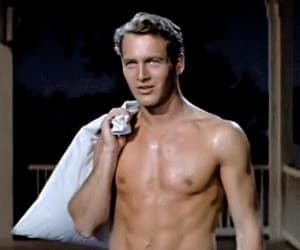 gif, paul newman, and hot summer image