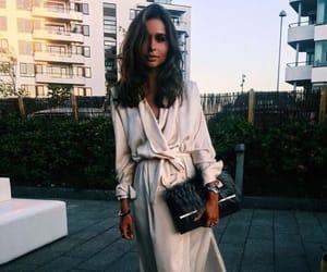 bag, dress, and evening image