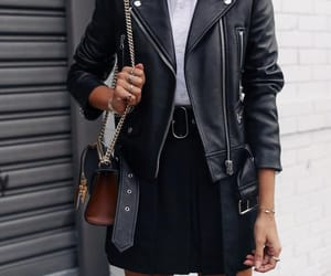 black, jacket, and ootd image
