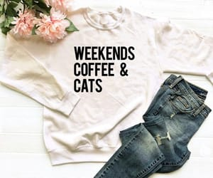 cats, coffee, and etsy image