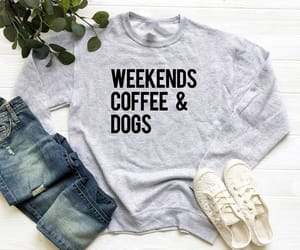 coffee, dogs, and etsy image
