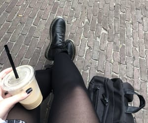 aesthetic, beige, and black image