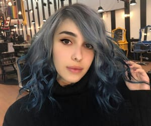 beauty, black, and blue image