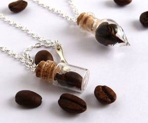 etsy, silver necklace, and Glass Bottle image