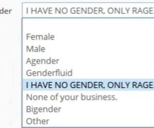 funny, gender, and rage image