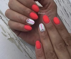 nails, two colors, and nice nails image