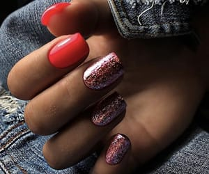 nails, red nails, and beauty nails image