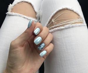 blue nails, cute nails, and nails image