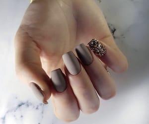 manicure, glitter nails, and matte nails image