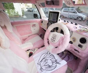 car, kawaii, and pink image