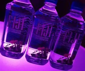 bottles, neon lights, and purple image
