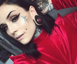 model, tattoed girl, and tattoo image