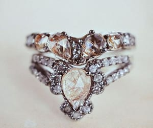 diamond, engagement, and fashion image