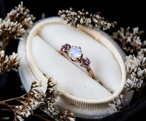 amethyst, engagement, and moon image
