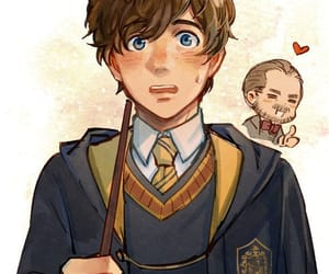 hufflepuff, albus dumbledore, and fantastic beasts image