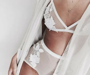 lace, lingerie, and white image