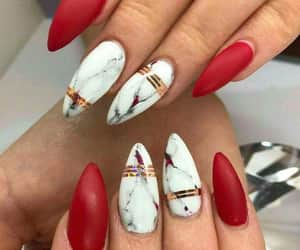 nails, fashion, and red image