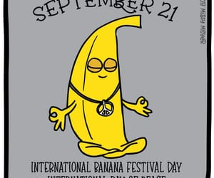 banana, peace, and days of the year image