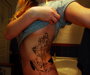 anchor, anchor tattoo, and mermaids image