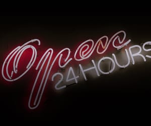 lights, 24 hours, and neon image