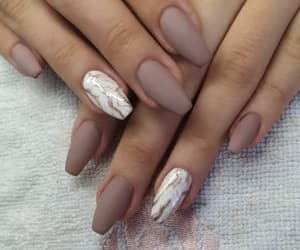 fall, manicure, and marble image