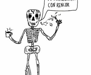 frases, heart, and skeleton image