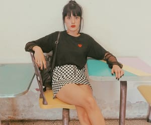 90's, black hair, and fashion image