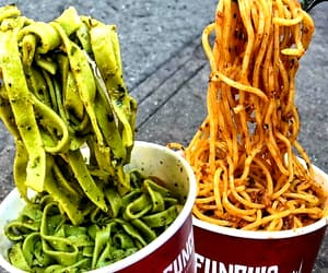 food, fast food, and noodles image