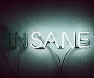 black and white, insane, and neon light image