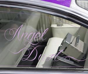 angel, cars, and lilac image