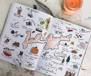 art, fall, and journaling image