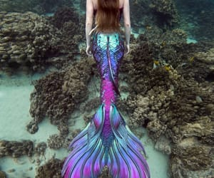 fantasy, magic, and mermaid image