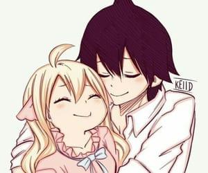 anime, hug, and kawai image
