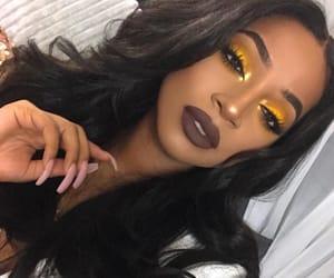 eyebrows, eyelashes, and lips image