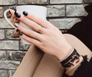 autumn, beauty, and black nails image