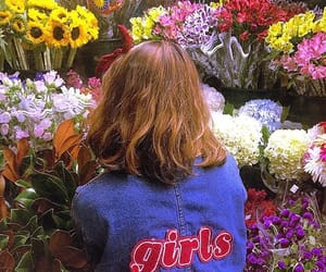 flowers, girls, and pale image