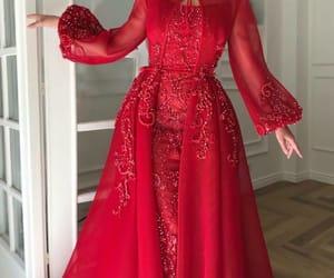 احمر, اناقه, and فستان image